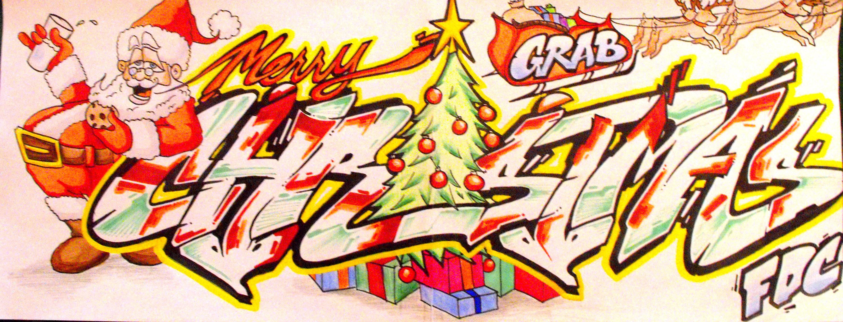 Christmas Graffiti Letters.Merry Christmas Grab Fdcrew Trueelements S Blog